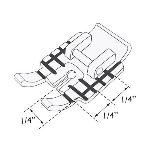 Husqvarna Viking METAL QUILTER 1/4 inch Piecing Foot Sewing Machine New