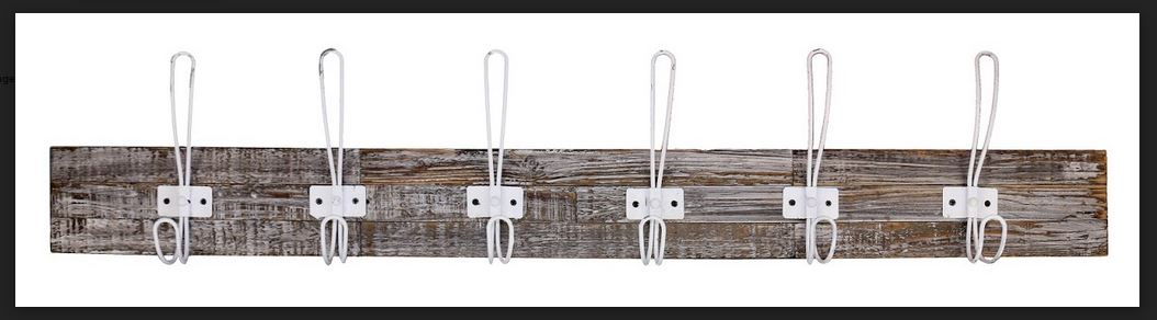 Country Vintage Inspired Inspiring with Wall Hooks Wood Hat Rack Wire NEW