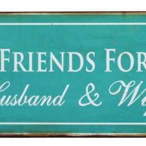 Wooden Sign French Country Vintage Tin Sign HUSBAND & WIFE Plaque New