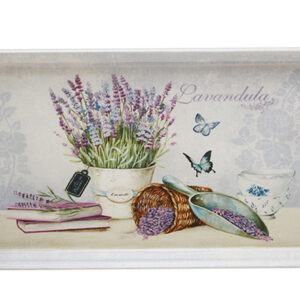 French Country Vintage Inspired Kitchen Floral LAVENDER TRAY New