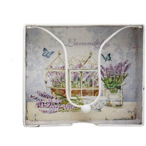 French Country Vintage Inspired Kitchen Napkin Serviette Holder LAVENDER New