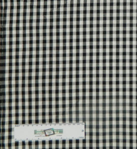 Quilting Patchwork Cotton Sewing Fabric GINGHAM CHECK BLACK 1/2 Meter NEW