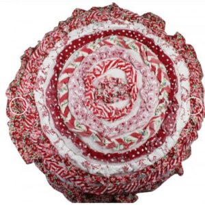 French Country New Cushion INDIE Ruffled ROUND Cushion Filled 40cm new