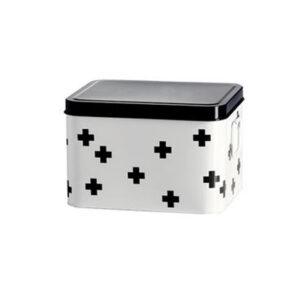 Enamel Retro Enamel Medicine Medical Multi Cross Box Storage Tin White