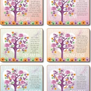 Country Inspired Kitchen TREE OF LOVE Cinnamon Cork Backed Placemats or Coasters Set 6