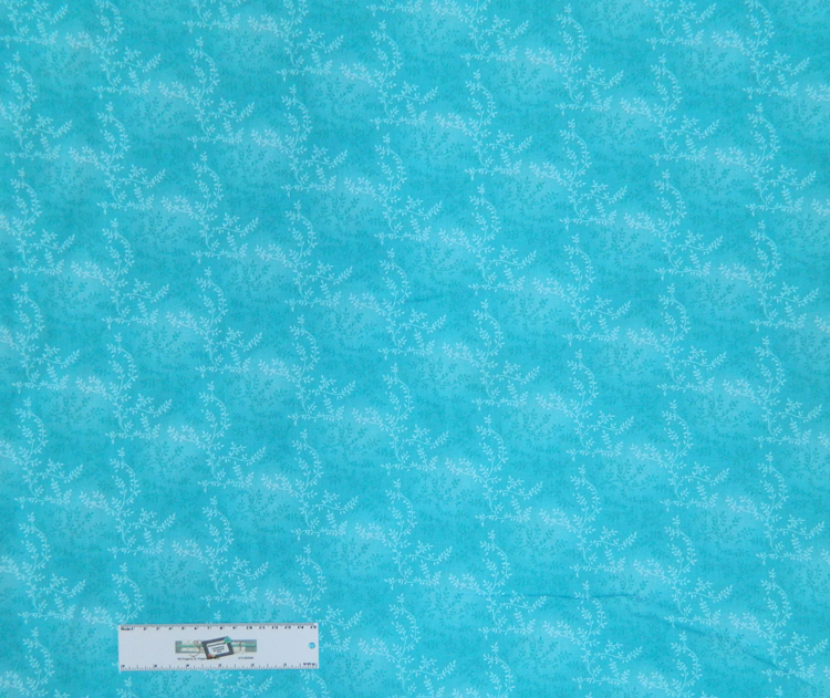 Country Quilting Fabric AQUA VINE Quilt Wide Backing 270x50cm New Queen, King