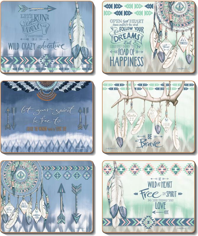 Country Kitchen GYPSY Cork Placemats/Coasters Set 6 NEW