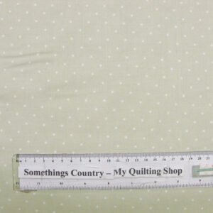 Quilting Patchwork Sewing Fabric GENTLE GARDEN APPLE GREEN SPOTS 50x55cm FQ NEW