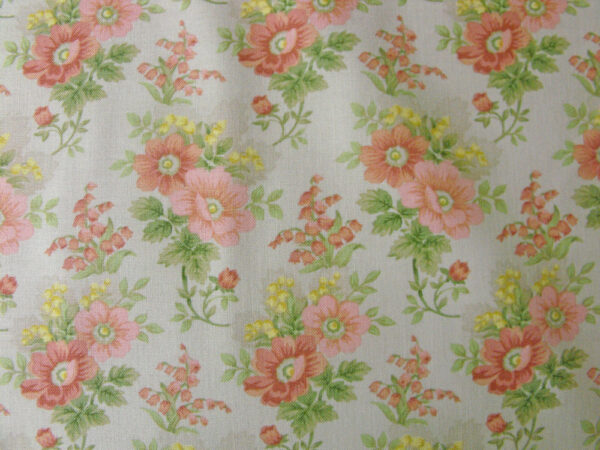 Quilting Patchwork Sewing Fabric GENTLE GARDEN FLORAL GREY 50x55cm FQ NEW