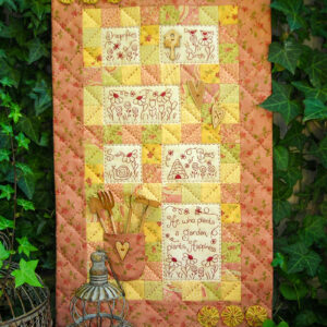 Quilting Sewing Wall Hanging Pattern GARDEN OF HAPPINESS Sally Giblin Rivendale Collection NEW