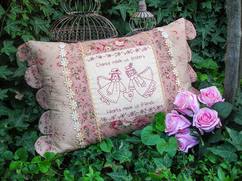Quilting Sewing Cushion Pattern SISTERS Sally Giblin Rivendale Collection NEW