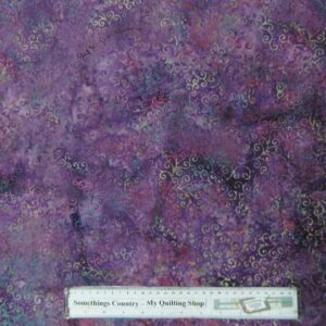 Quilting Patchwork Sewing Fabric Batik PURPLE PASSION 1 Cotton 50x55cm FQ NEW