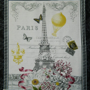 Patchwork Quilting Sewing Fabric EIFFEL TOWER Panel 60x110cm New Material