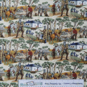 Quilting Patchwork Sewing Cotton Fabric NED KELLY SUCH IS LIFE 50x55cm FQ NEW