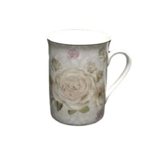 French Country Chic Kitchen Coffee Mugs PALE ROSES Set of 2 New FREEPOST