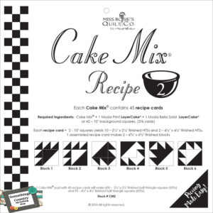 Quilting Sewing Quilt Pattern MODA CAKE MIX 2, Preprinted Cheats for Patchwork NEW