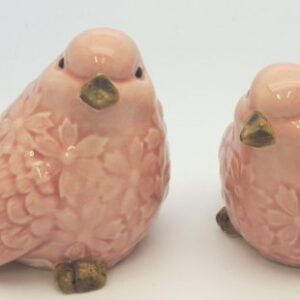 French Country Ornamental Set of 2 Birds PINK Collectable Gift Idea New