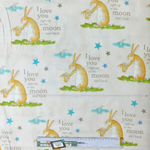 Quilting Patchwork Sewing Fabric GHMILY MOON & BACK 50x55cmFQ NEW