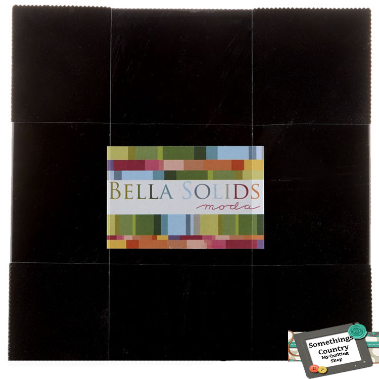 Moda Layer Cake BELLA BLACK 10 Inch Squares Patchwork Quilting Sewing Fabric NEW