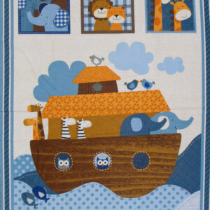 Patchwork Quilting Sewing Fabric NOAH'S ARK Kids Panel Material 60x110cm New