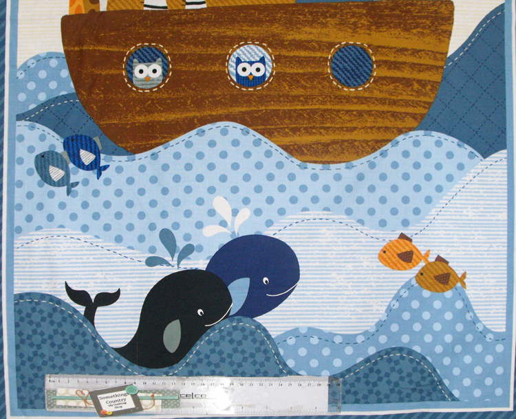 patchwork quilting sewing fabric noah 39 s ark kids panel