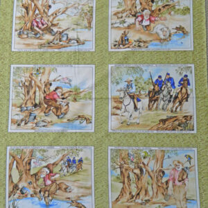 Patchwork Quilting Sewing Fabric WALTZING MATILDA AUSSIE Panel Cotton Material 88x110cm New