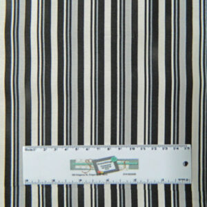 Patchwork Quilting Sewing Fabric BLACK, WHITE, GREY STRIPE Material 50x55cm New