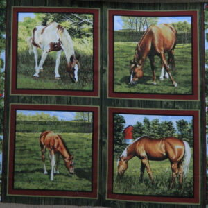 Patchwork Quilting Sewing Fabric VALLEY HORSE 1-4 Patchwork Quilting Sewing Fabric NEW