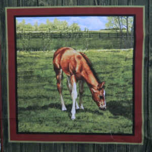 Patchwork Quilting Sewing Fabric VALLEY HORSE 3 Patchwork Quilting Sewing Fabric NEW