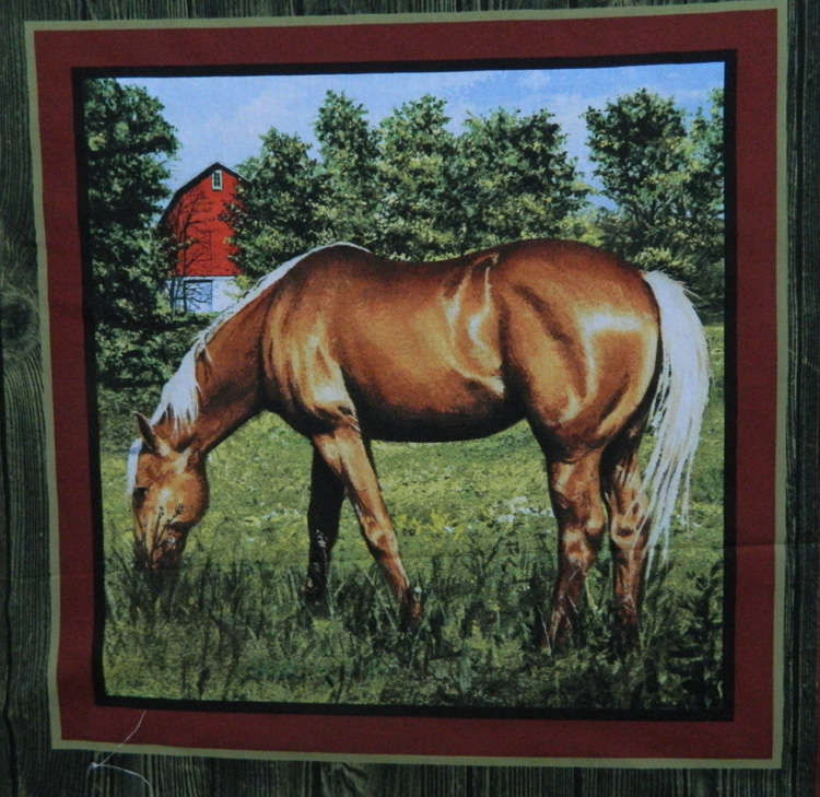 Patchwork Quilting Sewing Fabric VALLEY HORSE 4 Patchwork Quilting Sewing Fabric NEW