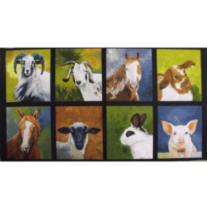 Patchwork Quilting Sewing Fabric DOWN ON THE FARM Panel 60x110cm New