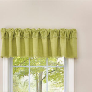 French Country New Curtain Ruffled CRAWFORD ALOE Kitchen Window VALANCE 180x35 cm