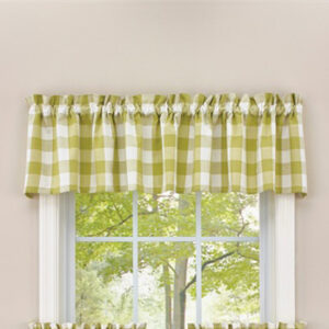 French Country New Curtain Ruffled WICKLOW ALOE Kitchen Window VALANCE 180x35 cm