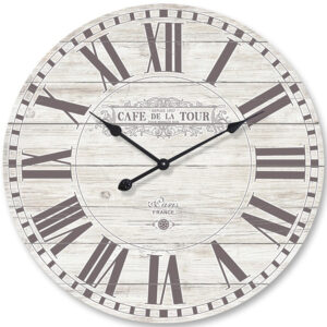 Clock French Country Vintage Inspired Wall Clocks 70cm CAFE DE LA TOUR New Time