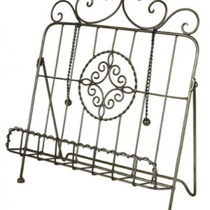 French Country Vintage Inspired Kitchen Recipe Book Holder EMBLEM Wrought Iron New