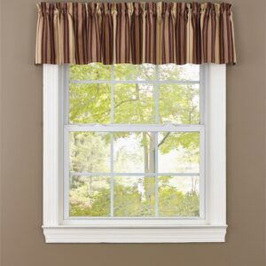 French Country New Curtain Ruffled BIRCH WOOD BROWNS Kitchen Window VALANCE 180x35cm