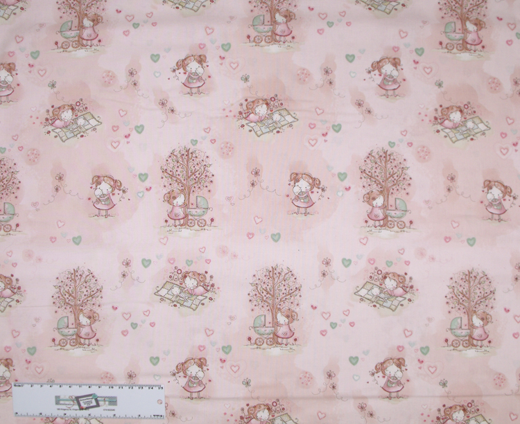 Quilting Patchwork Sewing Fabric PINK BABY Allover Cotton 50x55cmFQ NEW Freepost