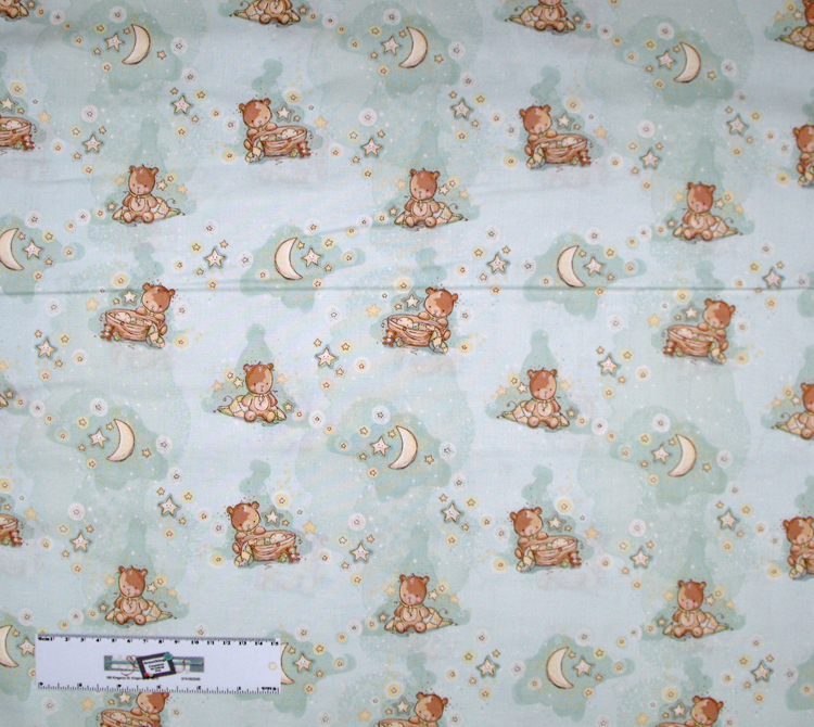 Quilting Patchwork Sewing Fabric BLUE BABY Allover Cotton 50x55cmFQ NEW Freepost