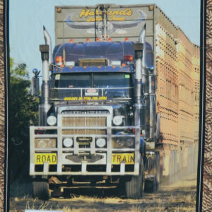 Patchwork Quilting Sewing Fabric ROAD TRAIN TRUCK SEMI TRAILER Panel 90x110cm