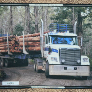 Patchwork Quilting Sewing Fabric LOGGING TRUCK SEMI TRAILER Panel 90x110cm