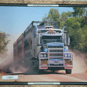 Patchwork Quilting Sewing Fabric CATTLE TRUCK SEMI TRAILER Panel 90x110cm