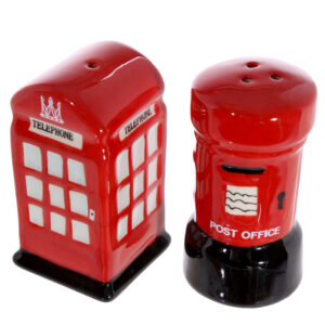 Collectable Novelty Salt & Pepper Set LONDON POST/PHONE BOX Kitchen FREEPOST NEW
