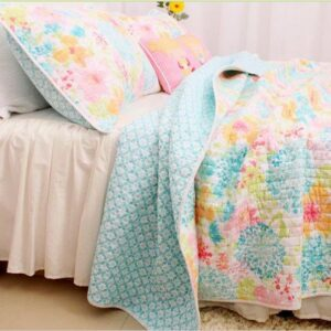 French Country Vintage Inspired Patchwork Bed Quilt SPRINGFIELD New Coverlet