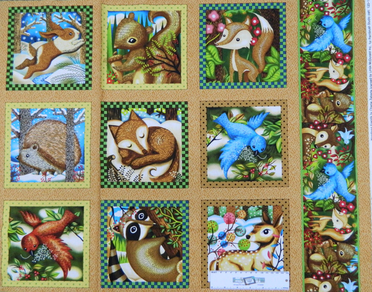 Patchwork Quilting Sewing Fabric Woodlands Critters