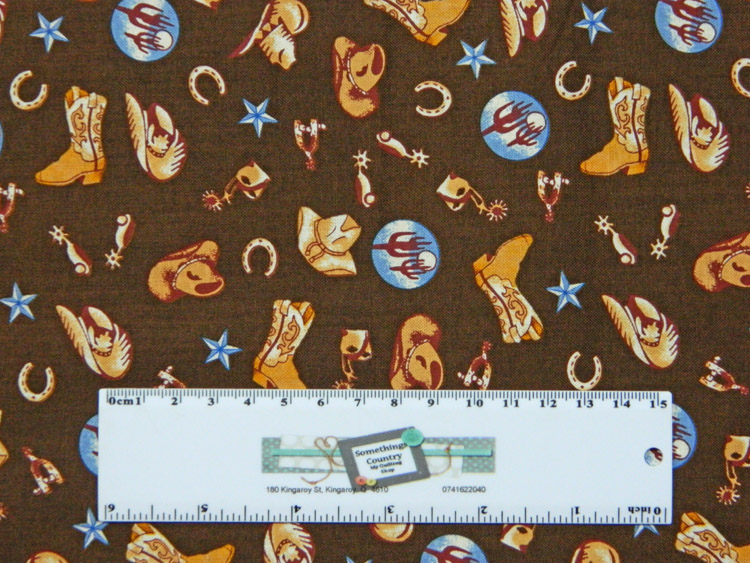 Quilting Patchwork Sewing Fabric HORSE RIDING BOOTS HATS 50x55cm FQ New