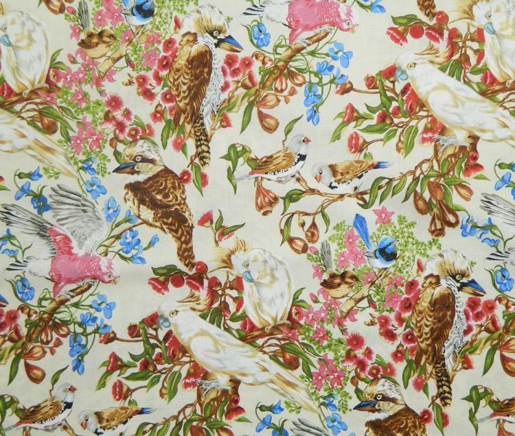 Quilting patchwork sewing fabric australian bird life