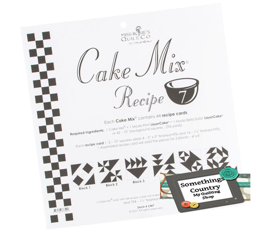 Quilting Sewing Quilt Pattern MODA CAKE MIX 7 Preprinted Cheats for Patchwork NEW