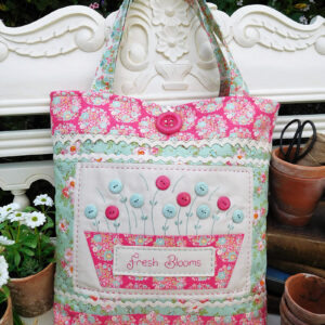 Quilting Sewing Bag Pattern FRESH BLOOMS Sally Giblin The Rivendale Collection NEW