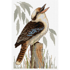 Country Threads Counted Cross X Stitch Kit LAUGHING KOOKABURRA NEW incl Thread FJ001