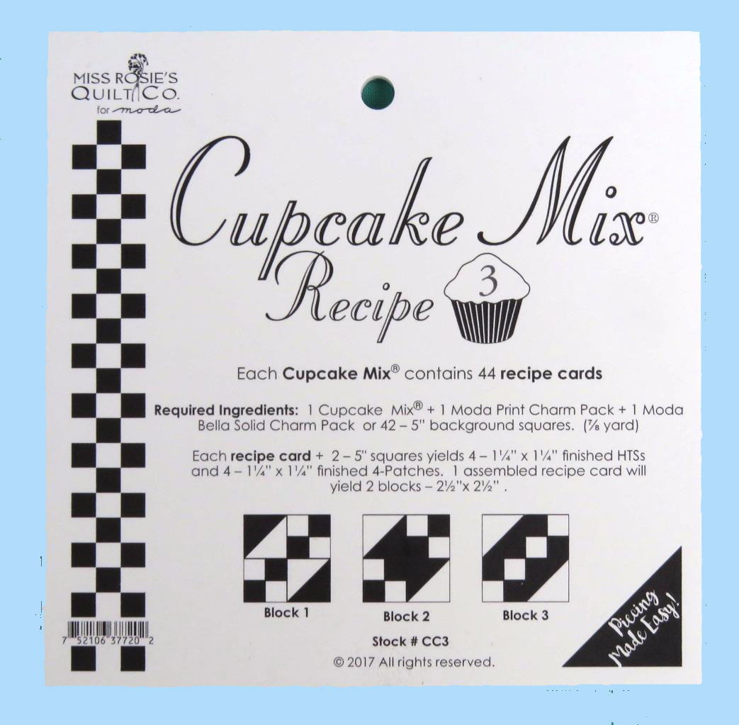 Quilting Sewing Quilt Pattern MODA CUPCAKE MIX 3 Preprinted Cheats for Patchwork NEW